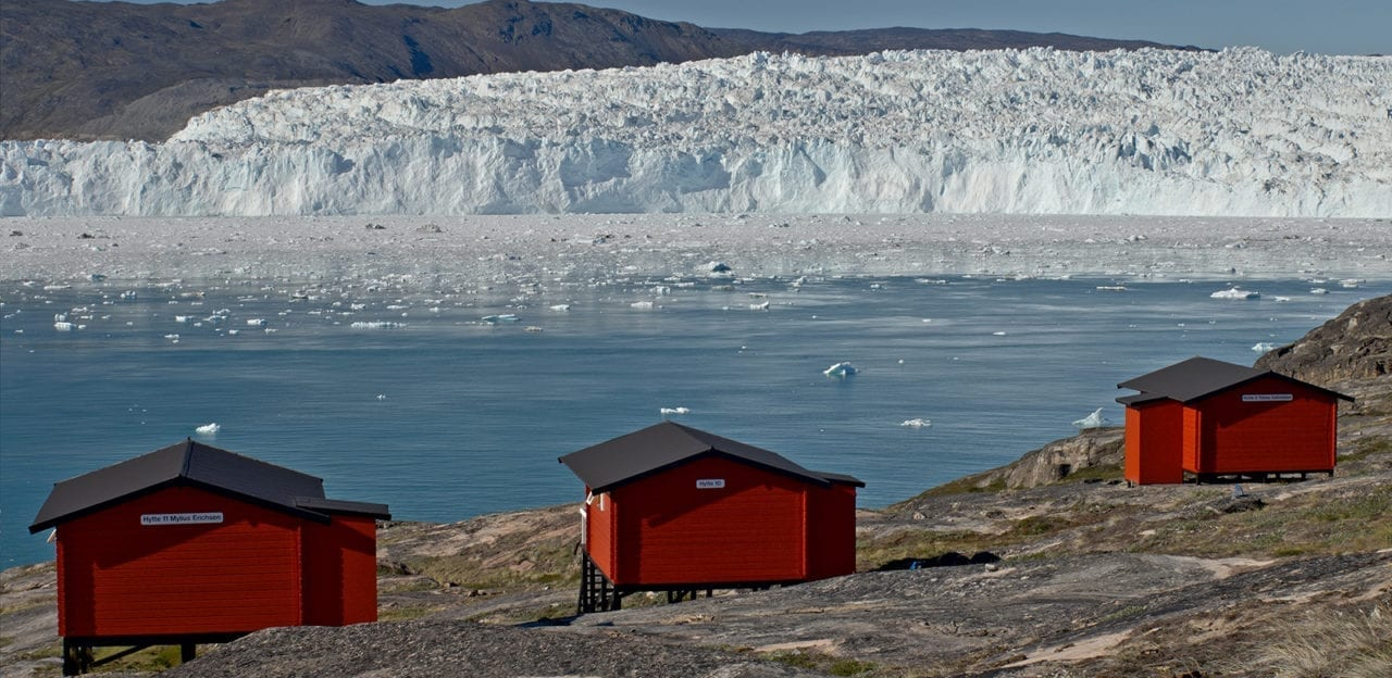 Glacier lodge Eqi tæt ved den smukke gletsjer