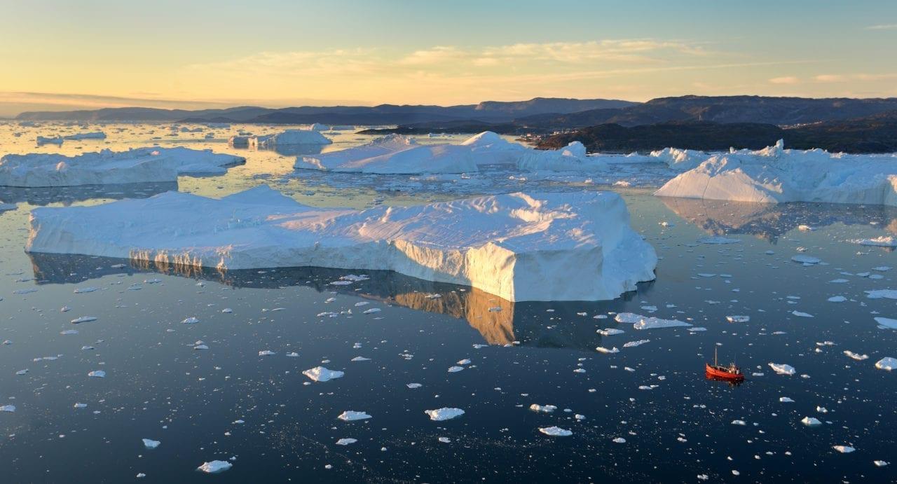 Ilulissat isfjord set fra luften